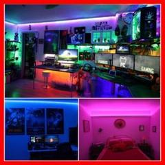 """Thumbnail of """"LED テープライト アプリ操作 音に反応♪  リモコン付き 5m×2"""""""