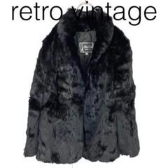 "Thumbnail of ""W1743*vintage ファーコート 黒ブラック 40"""
