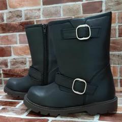 "Thumbnail of ""新品未使用●エンジニアブーツ●ブーツ●雨具●雨靴●19●長靴●ブラック"""