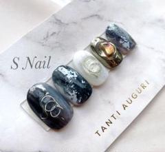 "Thumbnail of ""ネイルチップ No.49 ニュアンス立体デザインネイル"""
