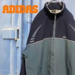 "Thumbnail of ""adidas ナイロンジャケット フルジップ ゆるだぼ グリーン 古着 刺繍ロゴ"""