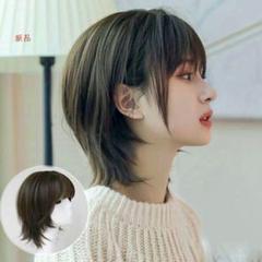 "Thumbnail of ""高品質のかつら,純粋な天然のウィッグ,美しい髪の色,ショートストレート8"""