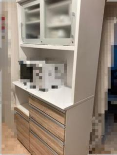 """Thumbnail of """"スイートデコレーション 食器棚 キッチンボード ベージュ ホワイト 白 100"""""""