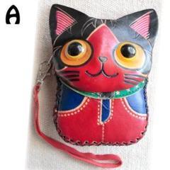 """Thumbnail of """"猫CAT・ハンドメイド・本革レザー・コインケース/ポーチ/ポシェットA☆"""""""