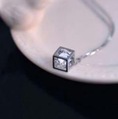 "Thumbnail of ""S925Mozambian Rubikの立方体ペンダントネックレス"""