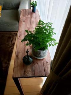 "Thumbnail of ""カウンターテーブル シェルフ 棚 観葉植物 ウォールナット 無垢 アンティーク"""