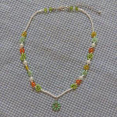 """Thumbnail of """"hand made beads necklace マーガレットチャーム"""""""