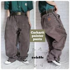 """Thumbnail of """"【大人気】Carhartt 革ロゴ ルーズワイド ダブルニー ペインターパンツ"""""""