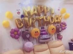 """Thumbnail of """"LINE 金 ラインフレンズ バルーン 誕生日 パーティーグッズ 飾り"""""""