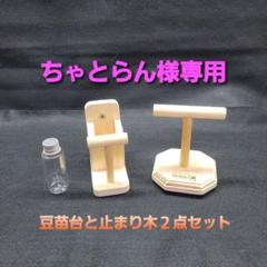 "Thumbnail of ""ちゃとらん様専用 豆苗台と止まり木の2点セット"""