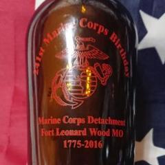 "Thumbnail of ""USミリタリー米国海兵隊誕生日birthday記念ボトルUSMCビール瓶"""