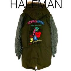 "Thumbnail of ""W1710*HALFMANハーフマン 個性派 モッズコート 緑グリーン M"""