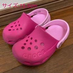 "Thumbnail of ""crocs kids クロックス キッズ  サンダル ピンク 15.5センチ"""