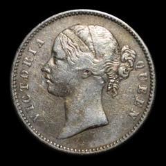 "Thumbnail of ""イギリス帝国ボンベイ造幣局 ルピー銀貨 1840年 ヴィクトリア 東インド会社⑤"""