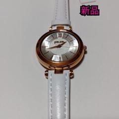 新品☆フォリフォリ 白ベルト 時計