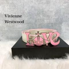 "Thumbnail of ""希少 Vivienne Westwood LOVE ベルト レザー 白 オーブ"""