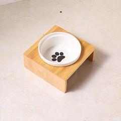 """Thumbnail of """"ペットボウル フード ウォーターボウル 犬猫用 陶器 竹製 取り外し可"""""""