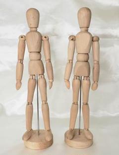 "Thumbnail of ""【美品】IKEA 17287 木製 デッサン人形 2体"""