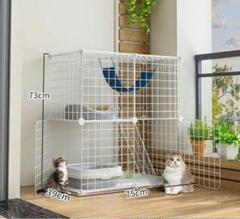 "Thumbnail of ""白い新作!猫ケージ家庭用室内小型猫小屋超自由空間幼猫別荘"""