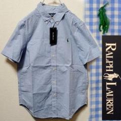 """Thumbnail of """"ラルフローレン ギンガムチェック 半袖 BD ボタンダウンシャツ 160 L"""""""