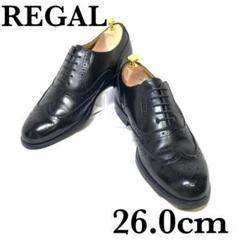 "Thumbnail of ""超美品 REGAL 革靴 ウイングチップ 内羽根式 フルブローグ 26cm"""