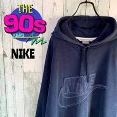 """Thumbnail of """"90's NIKE ナイキ ホワイトステッチ立体ロゴ スエットパーカー 希少"""""""