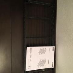 """Thumbnail of """"ブラックニトリスチールラックスタンダード幅65cm棚板2枚スリーブ18個"""""""