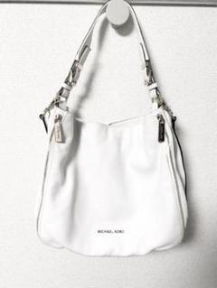 マイケルコースの白バッグ