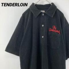 """Thumbnail of """"TENDERLOIN テンダーロイン 半袖刺繍パイルシャツ サイズM 黒 古着"""""""