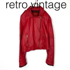 "Thumbnail of ""W2378*vintage 個性派 羊革 ライダースジャケット 赤レッド S"""