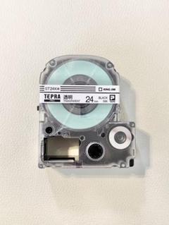 """Thumbnail of """"テプラPro テープカートリッジ 24mm 透明 黒字"""""""