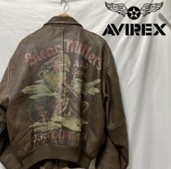 "Thumbnail of ""AVIREX アヴィレックス A-2 レザージャケット ペイント"""