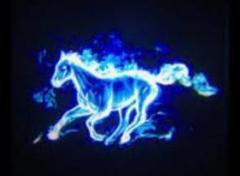 "Thumbnail of ""LEDドアカーテシライト 青い馬 2個セット"""