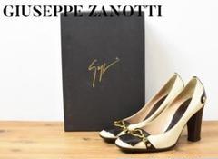 "Thumbnail of ""5Z0125 GiuseppeZanotti 金具 ヒール パンプス 白"""