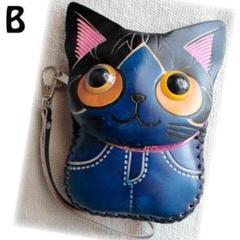 "Thumbnail of ""猫CAT・ハンドメイド・本革レザー・コインケース/ポーチ/ポシェットB☆"""