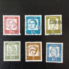 "Thumbnail of ""西ドイツの切手  1961年著名人"""