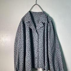 【ヴィンテージ】80'sレオパードシャツ レアカラー 古着女子 usedT2