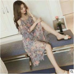"""Thumbnail of """"春の新しい緩いミディアムロングスカートフェアリーレースの薄い長袖のドレス316"""""""