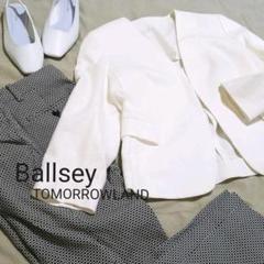 """Thumbnail of """"Ballsey ボールジィ コットンリネンノーカラージャケット ホワイト"""""""