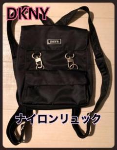 "Thumbnail of ""DKNY ダナキャランニューヨーク ロゴ入り リュック ブラック"""