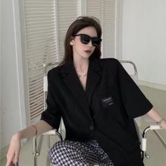 "Thumbnail of ""ブレザー半袖女性夏のゆるいカジュアルプロスーツの上着Q"""