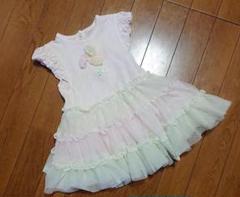 "Thumbnail of ""ベビードレス チュール ワンピース 70 80 フリル ピンク 女の子 スカート"""