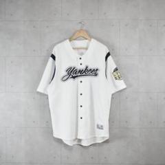 "Thumbnail of ""Yankees ベースボールシャツ ヤンキース 刺繍ロゴ ホワイトオーバーサイズ"""