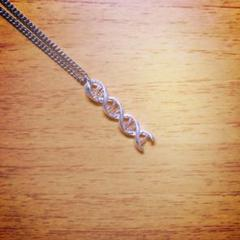 "Thumbnail of ""DNA spiral silvernecklace"""