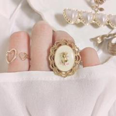 """Thumbnail of """"ホログラムと薔薇リング 指輪 ハンドメイド 量産 量産型 薔薇 バラ ゴールド"""""""