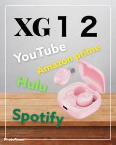 "Thumbnail of ""XG-12 ピンク ワイヤレスイヤホン 高音質 おしゃれ"""