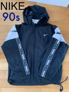 90s NIKE ナイキ 銀タグ USA 袖ロゴ ナイロンジャケット