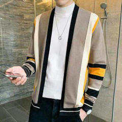 """Thumbnail of """"秋の男子服の長袖Tシャツニットにかっこいい上着のゆったりしたセーター31"""""""