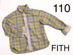 "Thumbnail of ""FITH フィス チェックシャツ 110 長袖 レーヨン"""