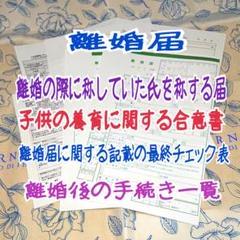 "Thumbnail of ""a-783 【普】 離婚届 各種届 詳細記入例 (お子様居る方用)"""
